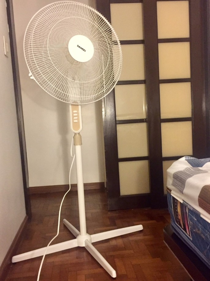 Fans are an absolute must during the sweltering summer season in Buenos Aires