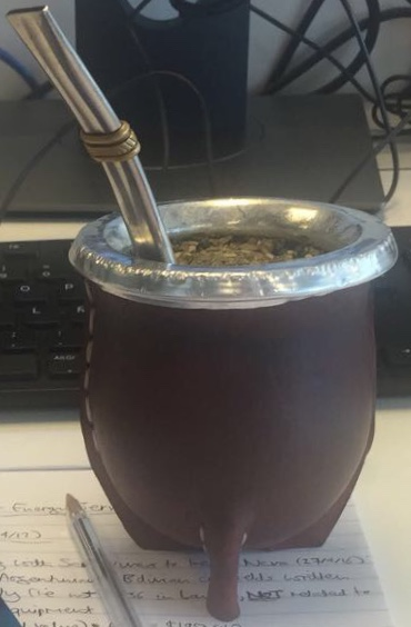Yerba mate is a communal drink shared between Argentines