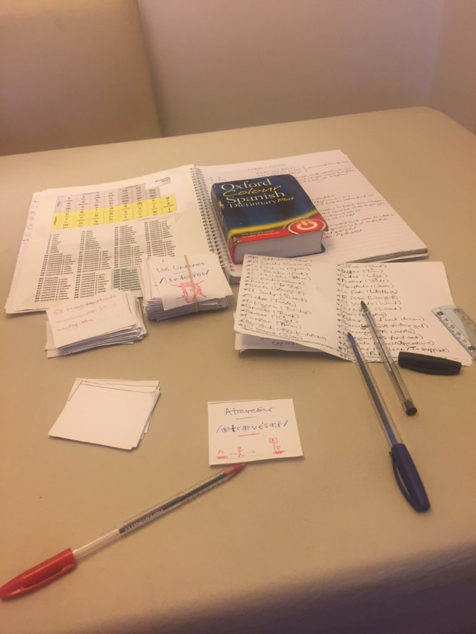 Using flash cards to learn Argentinian Spanish