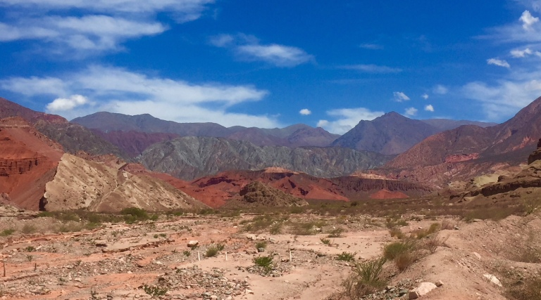 Colourful rocks in Cafayate